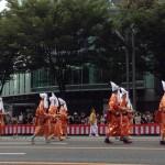 豊公参朝列-牛車